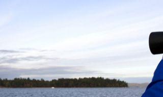 Looking Over Sebago Lake