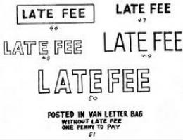 Why did I get a late fee?